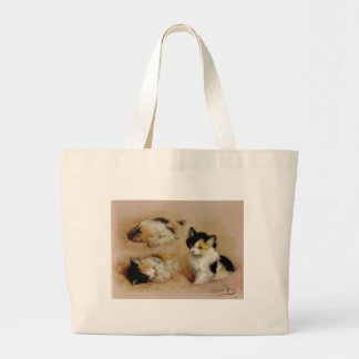 Calico Kitten Artwork Jumbo Tote Bag