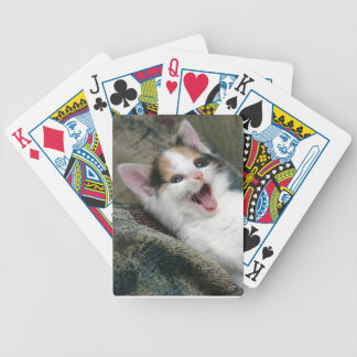 Calico Kitten Cat Playing Cards