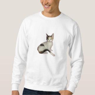 Calico Kitten Cutout Sweatshirt