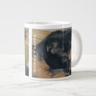Calico Kitten Face Large Coffee Mug