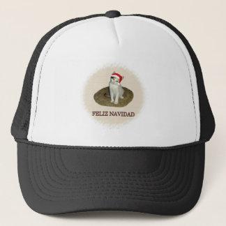Calico Kitten Feliz Navidad Trucker Hat