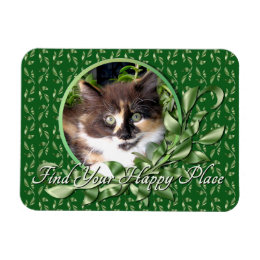 Calico Kitten Happy Place Magnet