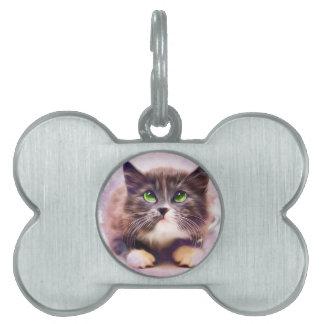 Calico Kitten Pet Name Tag