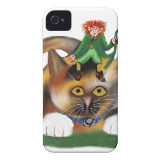Calico Kitten Plays with her Leprechaun Pal iPhone 4 Cases