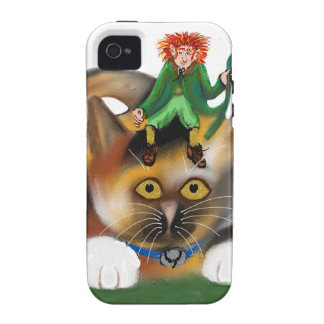 Calico Kitten Plays with her Leprechaun Pal Vibe iPhone 4 Covers