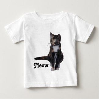 Calico  kitten saying meow baby T-Shirt