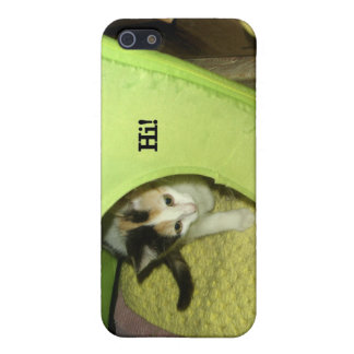 """Calico Kitten Says """"Hi!"""" iPhone SE/5/5s Cover"""