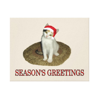 Calico Kitten's Season's Greetings Canvas Print