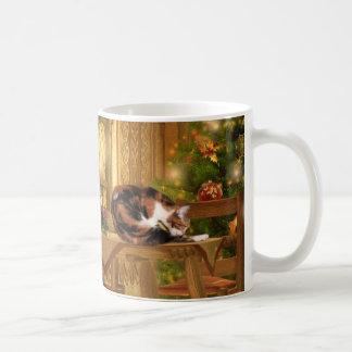 Calico kitties Christmas Coffee Mug
