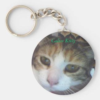 Calico Kitty..awake Key Chain