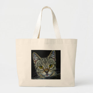 Calico Kitty by Edmond Hogge Jr Jumbo Tote Bag
