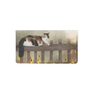 Calico kitty cat checkbook cover