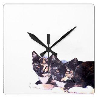 Calico Kitty Cat Kittens Animals Pets Clock