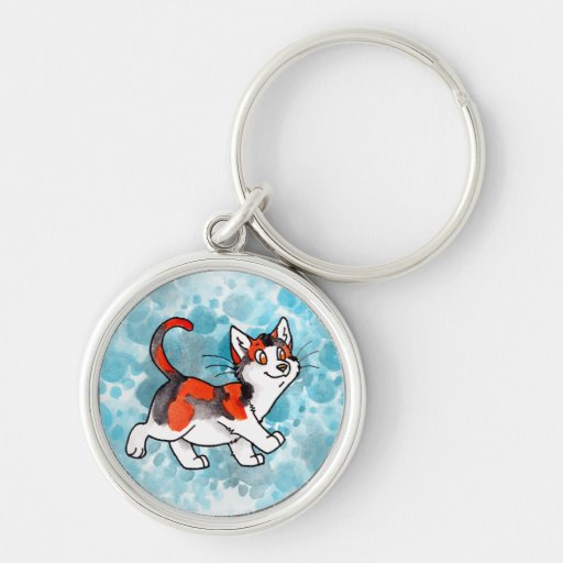 Calico Kitty Keychains