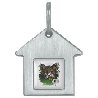 Calico Kitty Pet Name Tag