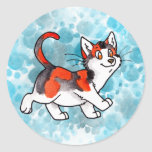 Calico Kitty Round Stickers