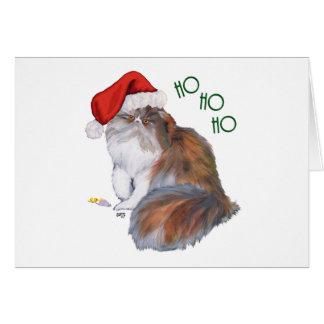 Calico Persian Cat Christmas Card