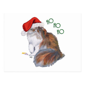 Calico Persian Cat Christmas Post Cards