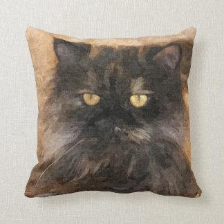 Calico Persian Cat Pillow