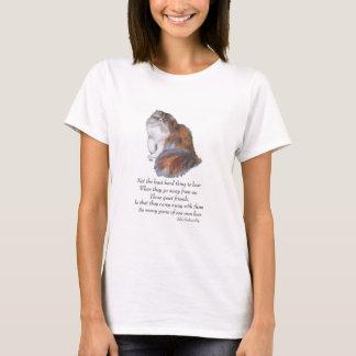 Calico Persian Cat Rainbow Bridge T-Shirt