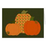 Calico Pumpkin Trio Card