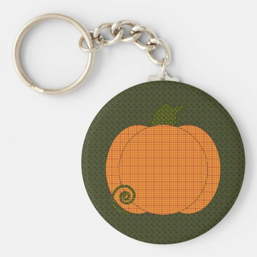 Calico Pumpkin Trio Keychain