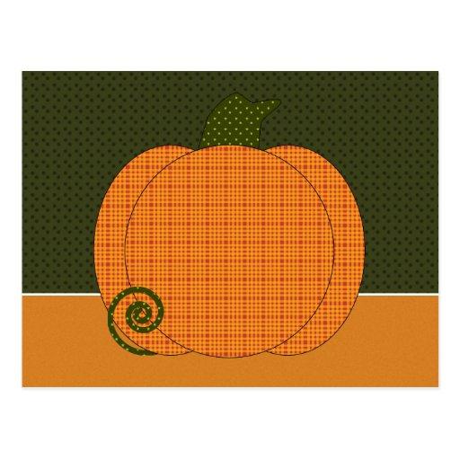 Calico Pumpkin Trio Postcard