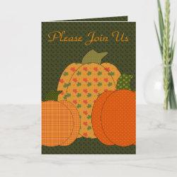 Calico Pumpkin Trio Thanksgiving Invitation card