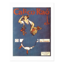 Calico Rag Vintage Songbook Cover Postcard