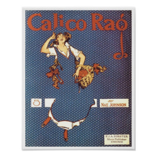 Calico Rag Vintage Songbook Cover Poster