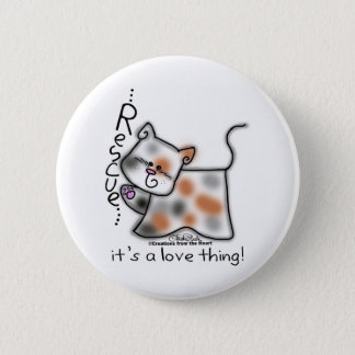 Calico RESCUE...it's a love thing! Button