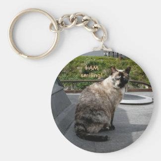 Calico Siamese Cat on Unalaska Island Basic Round Button Keychain