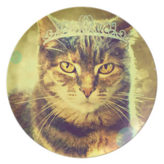 Calico Tabby Princess Cat Plate by Carol Zeock
