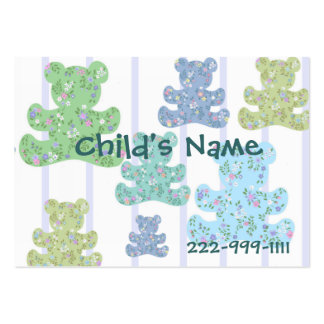 Calico Teddy Bears Children's Calling Card Business Card