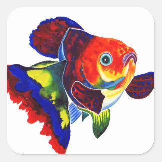 Calico Veiltail Goldfish decorative stickers