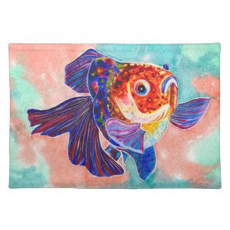 Calico Veiltail Goldfish design placemat Cloth Place Mat