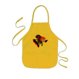 Calico Veiltail Goldfish kitchen apron