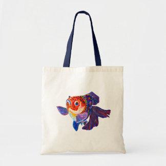Calico Veiltail Goldfish tote bag