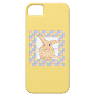 Calico Yellow Bunny on Pastel Checkerboard iPhone SE/5/5s Case