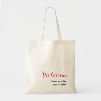 Cálida bienvenida - recepción/fuera de la bolsa de