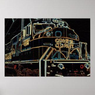Calidad 1976 - 1999, SD-80MAC #4118 de Conrail Póster