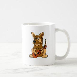 CALIDAD DE COPIA perrito del pastor alemán que Taza Clásica