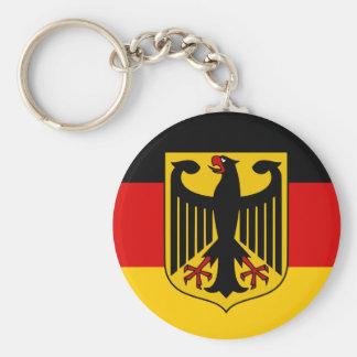 Calidad de la bandera de Alemania Llavero Redondo Tipo Pin