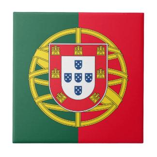 Calidad de la bandera de Portugal Azulejo Cuadrado Pequeño