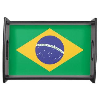 Calidad de la bandera del Brasil Bandejas