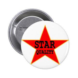 Calidad de la estrella pin redondo 5 cm