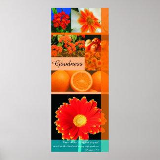 calidad de la fruta póster