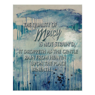 Calidad de la misericordia póster