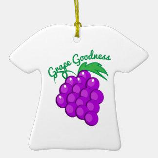 Calidad de la uva adorno de cerámica en forma de playera