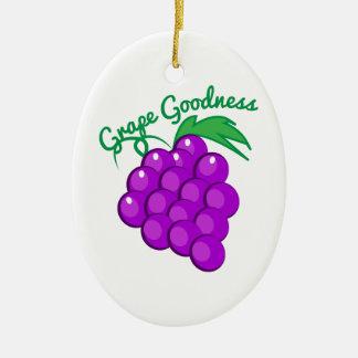 Calidad de la uva adorno ovalado de cerámica